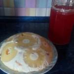 торт м'яч, рецепт, випічка, бісквіт з ананасами