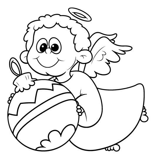 новорічні розмальовки, ялинкова прикраса, ялинкові іграшки, янгол