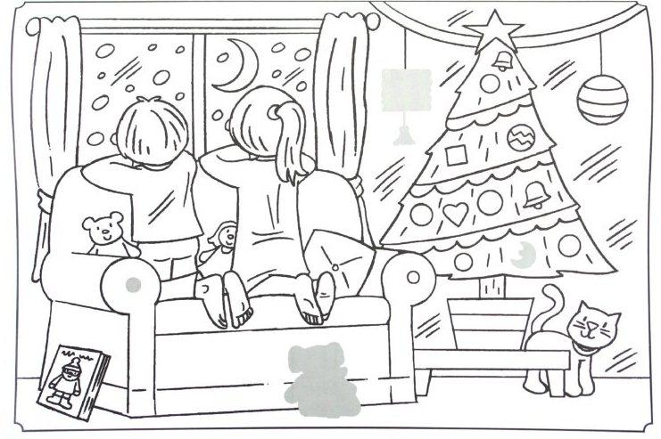 новорічні розмальовки
