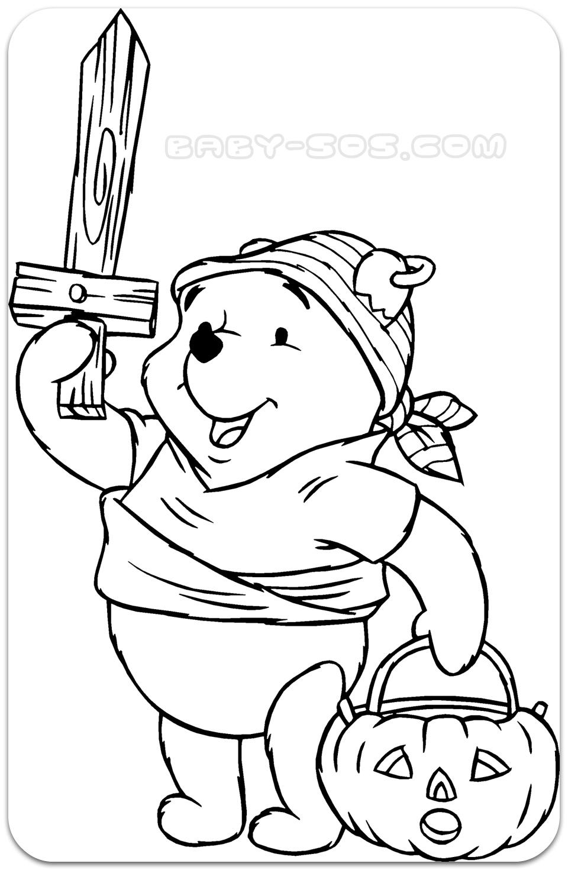 розмальовки для дітей, дісней, вінні пух, раскраски