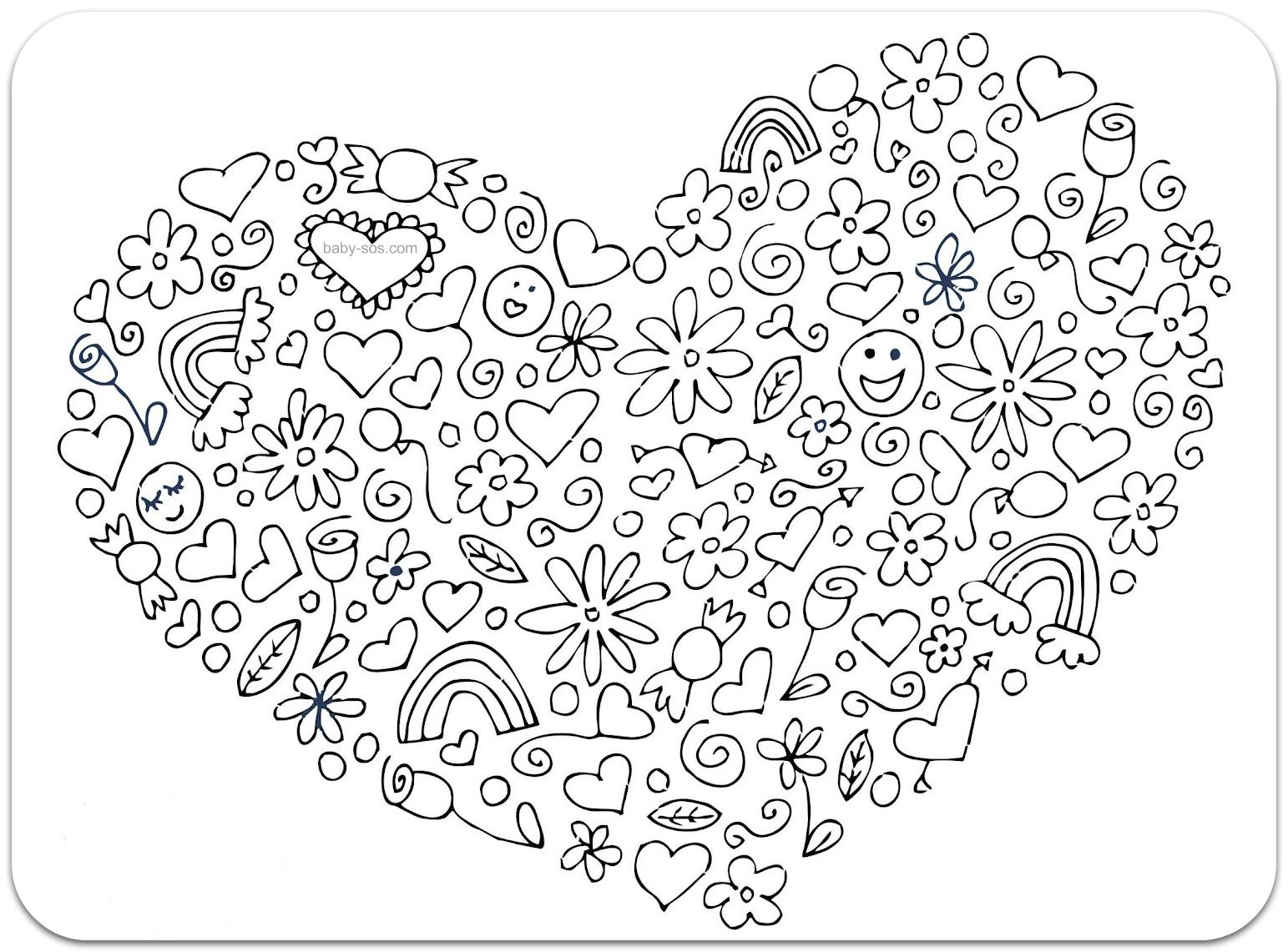 Сложные раскраски для девочек онлайн