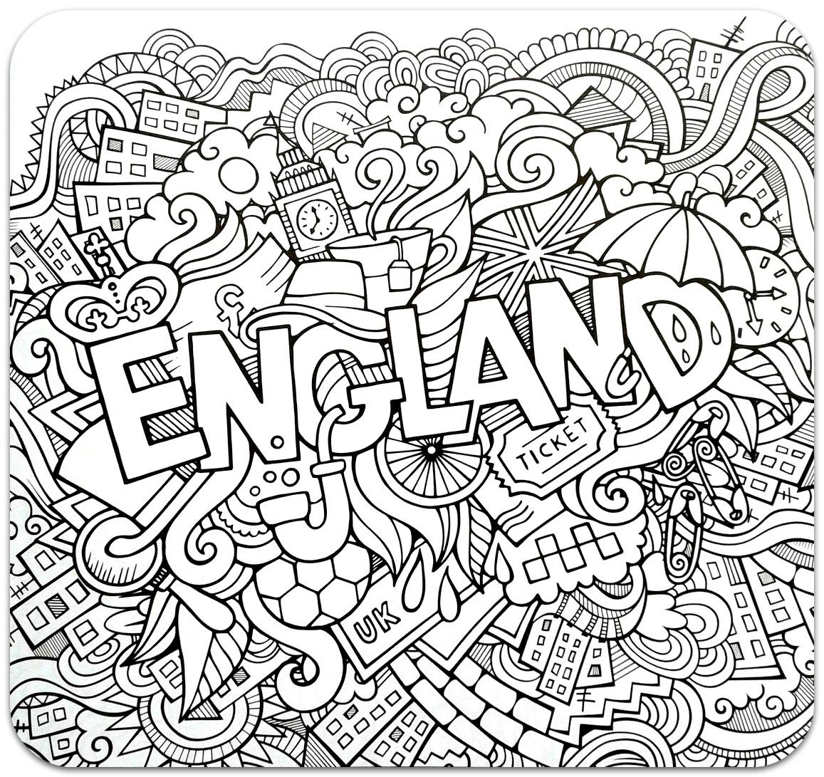 розмальовки для дорослих, розмальовки антистрес, країни, подорож, раскраски антистресс, страны, англія