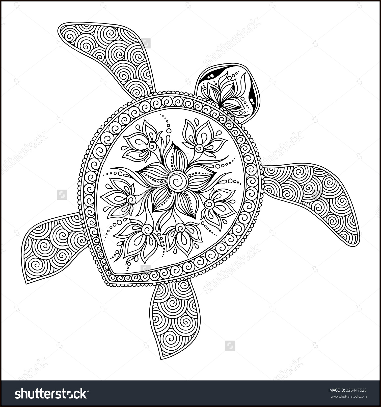 Coloring for kids and adults coloring antistress for Coloring pages turtles