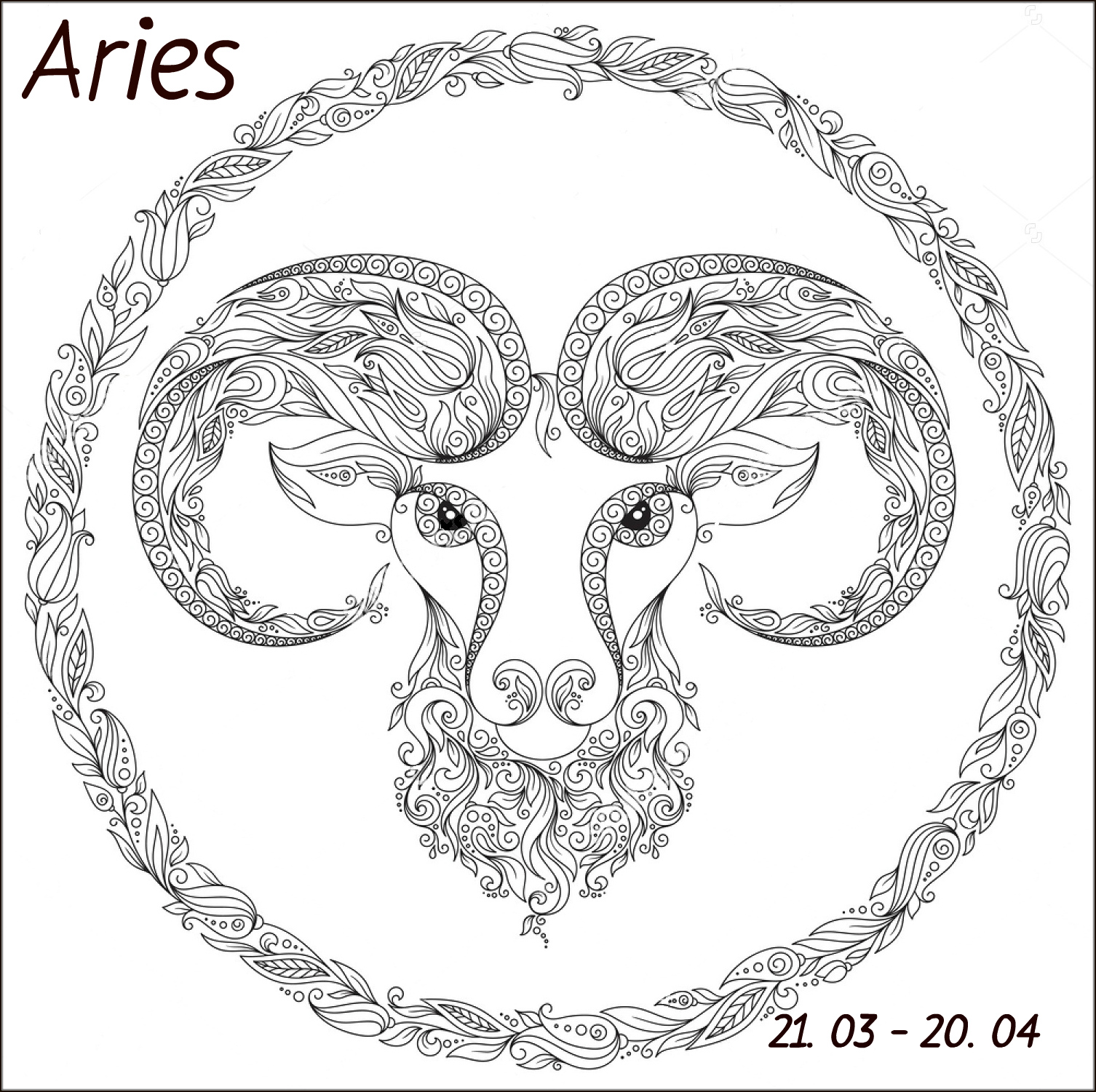Coloring pages zodiac signs -  Stress