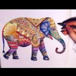 розмальовки для дорослих, розмальовки антистрес, тварини, подорож, сложные раскраски антистресс, животные, слон