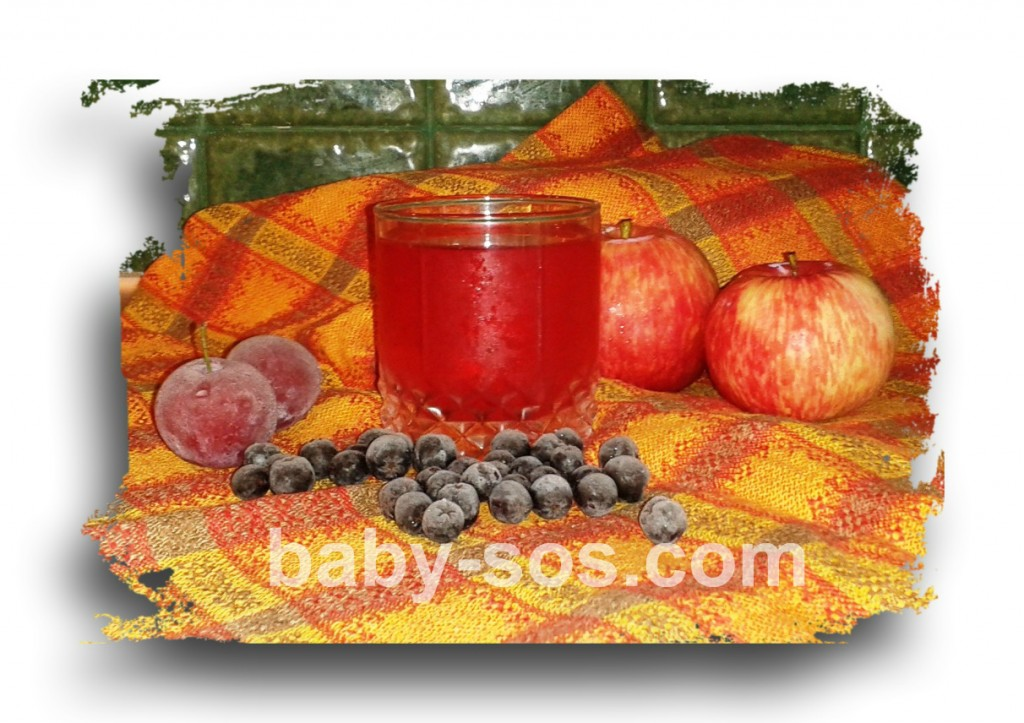 recipe, useful compote, with fruit, berries, of apples, cherries, sink, Aronia