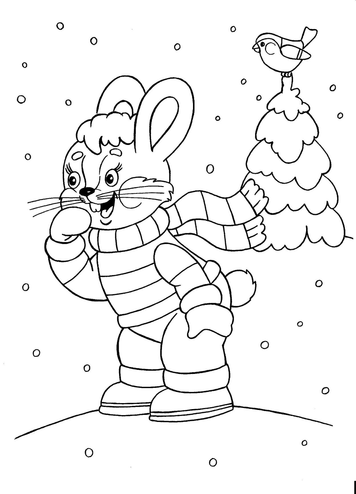 Christmas Coloring, bunny