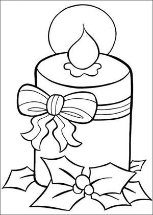 Christmas Coloring, candle