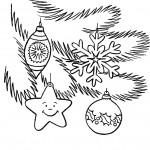 новорічні розмальовки, ялинкова прикраса, ялинкові іграшки