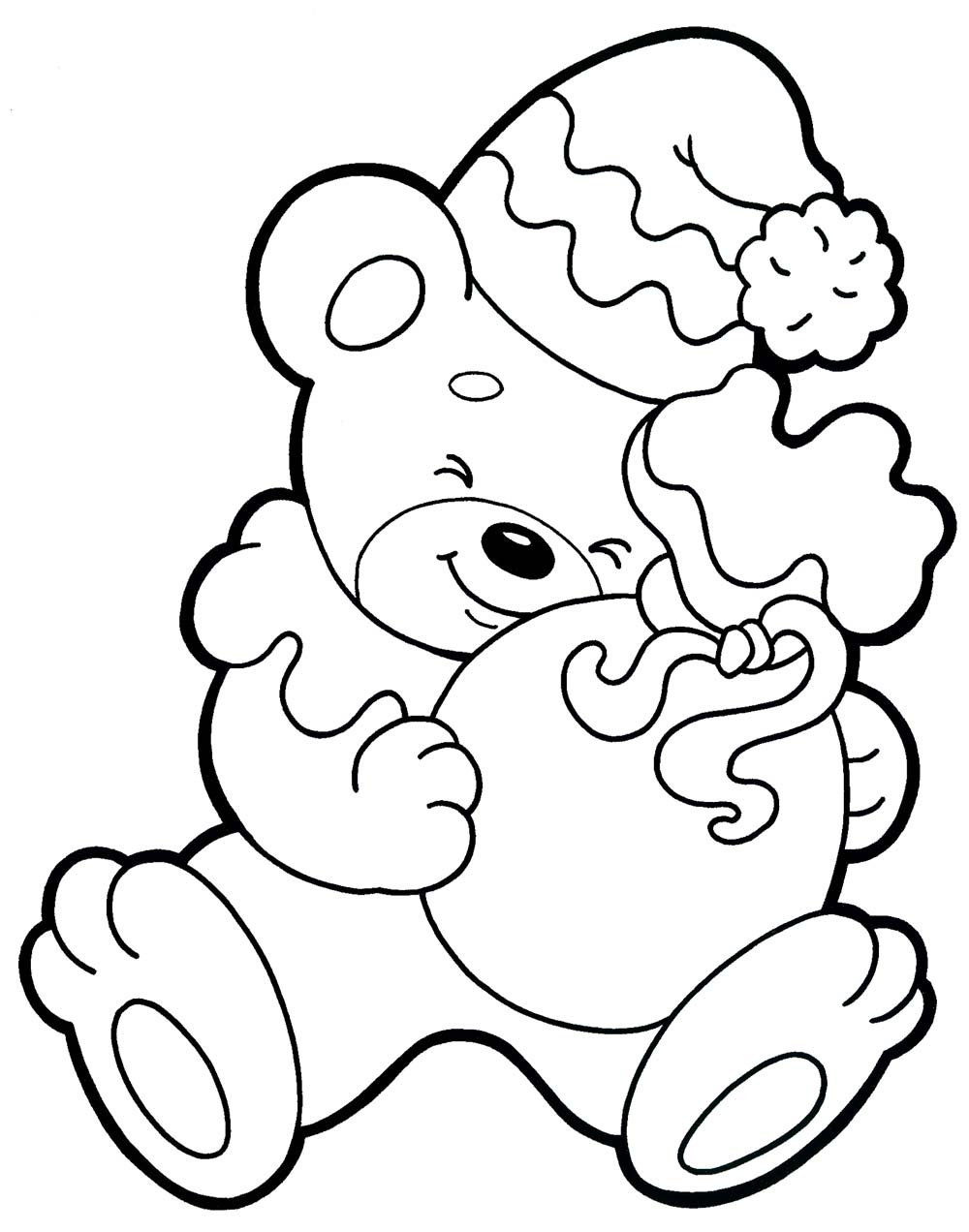 Christmas Coloring, bear