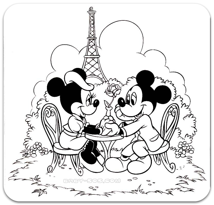Coloring for kids, Disney, Mickey Mouse, Maysa mine, guffі, coloring
