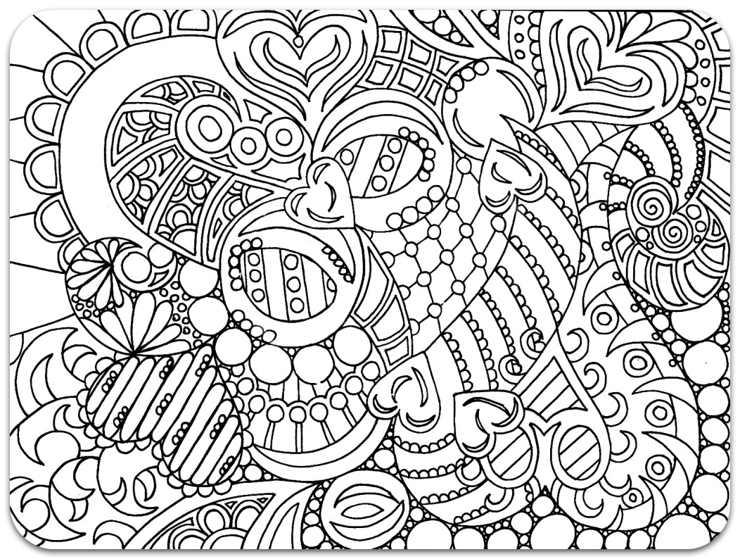 Coloring Antistress Valentine's Day, Coloring for adults