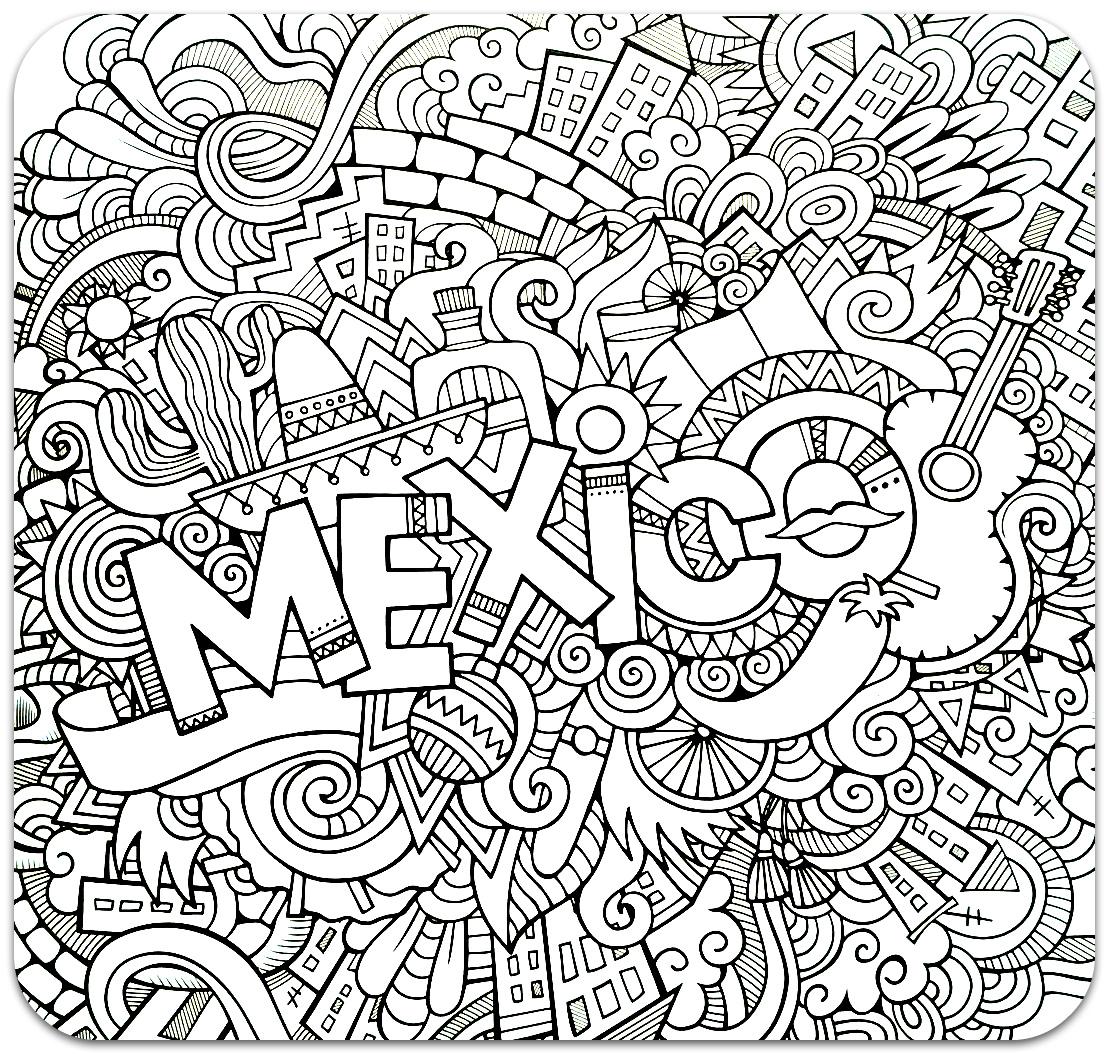 розмальовки для дорослих, розмальовки антистрес, країни, подорож,  сложные раскраски антистресс, страны, путешествия, мексика