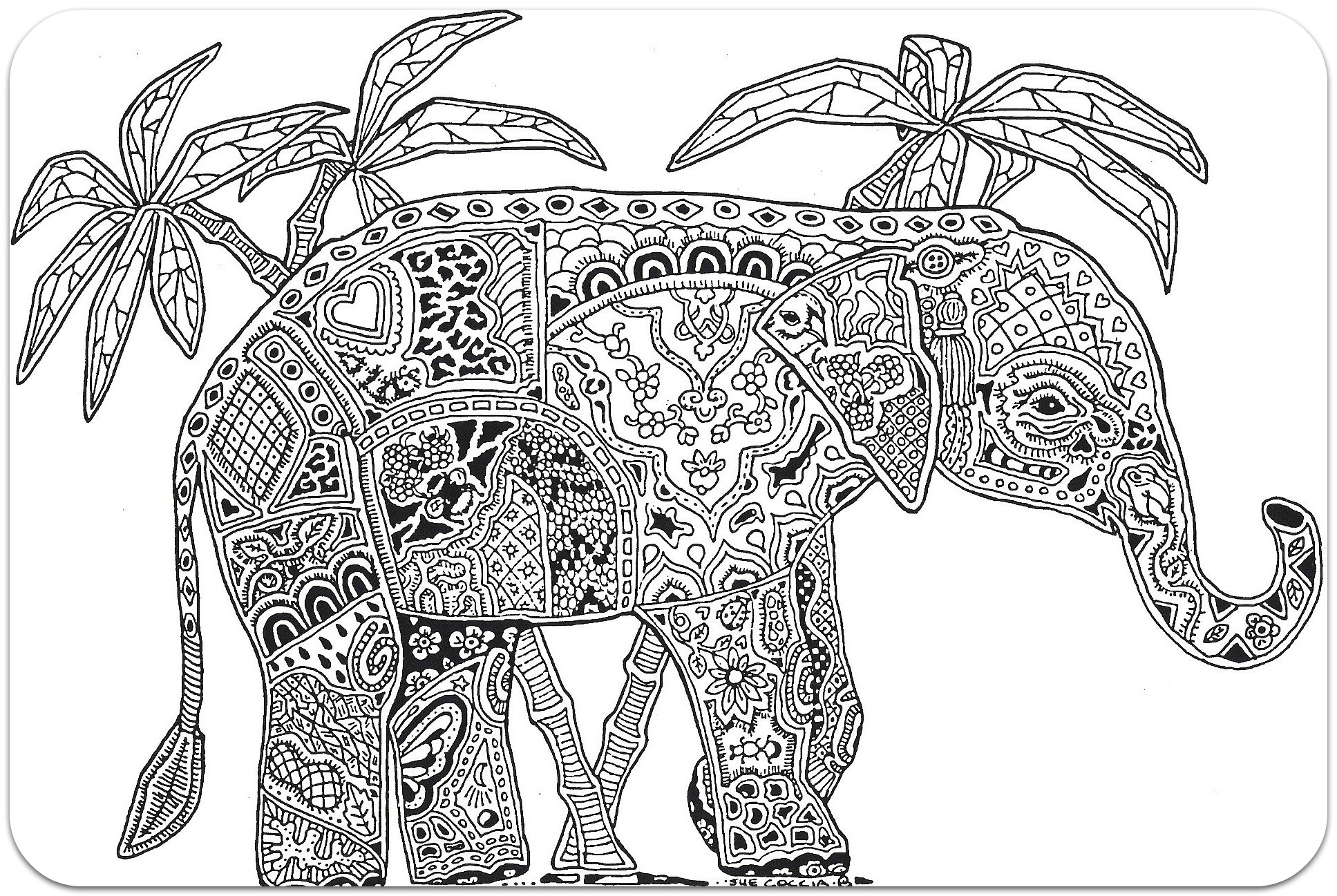 Coloring for adults, Coloring Antistress, тварини, travel, sophisticated coloring antistress, животные, elephantanimals