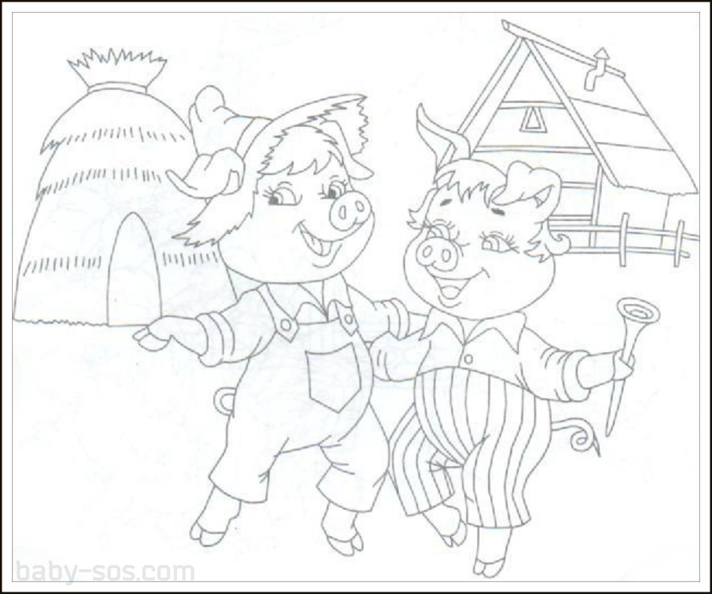 рисунок к сказке три поросенка карандашом автора темы-чью чужую