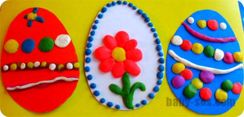 crafts from clay to Easter