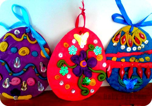 crafts from clay for Easter