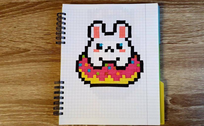 Hamster in a donut (PIXEL ART)