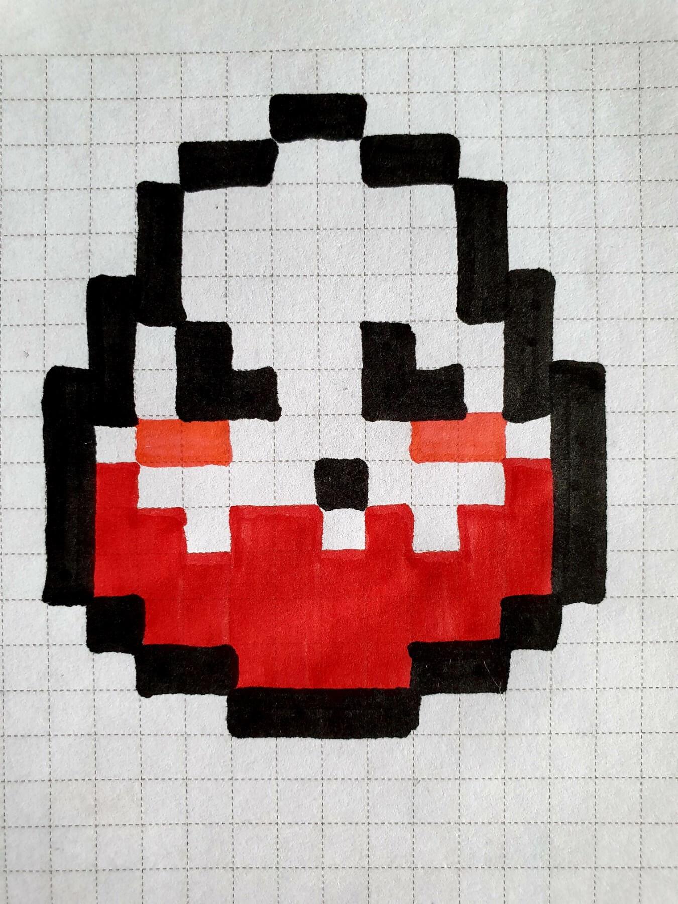 кіндер, drawings on cells, drawings by cells, pixel art, pixel drawings