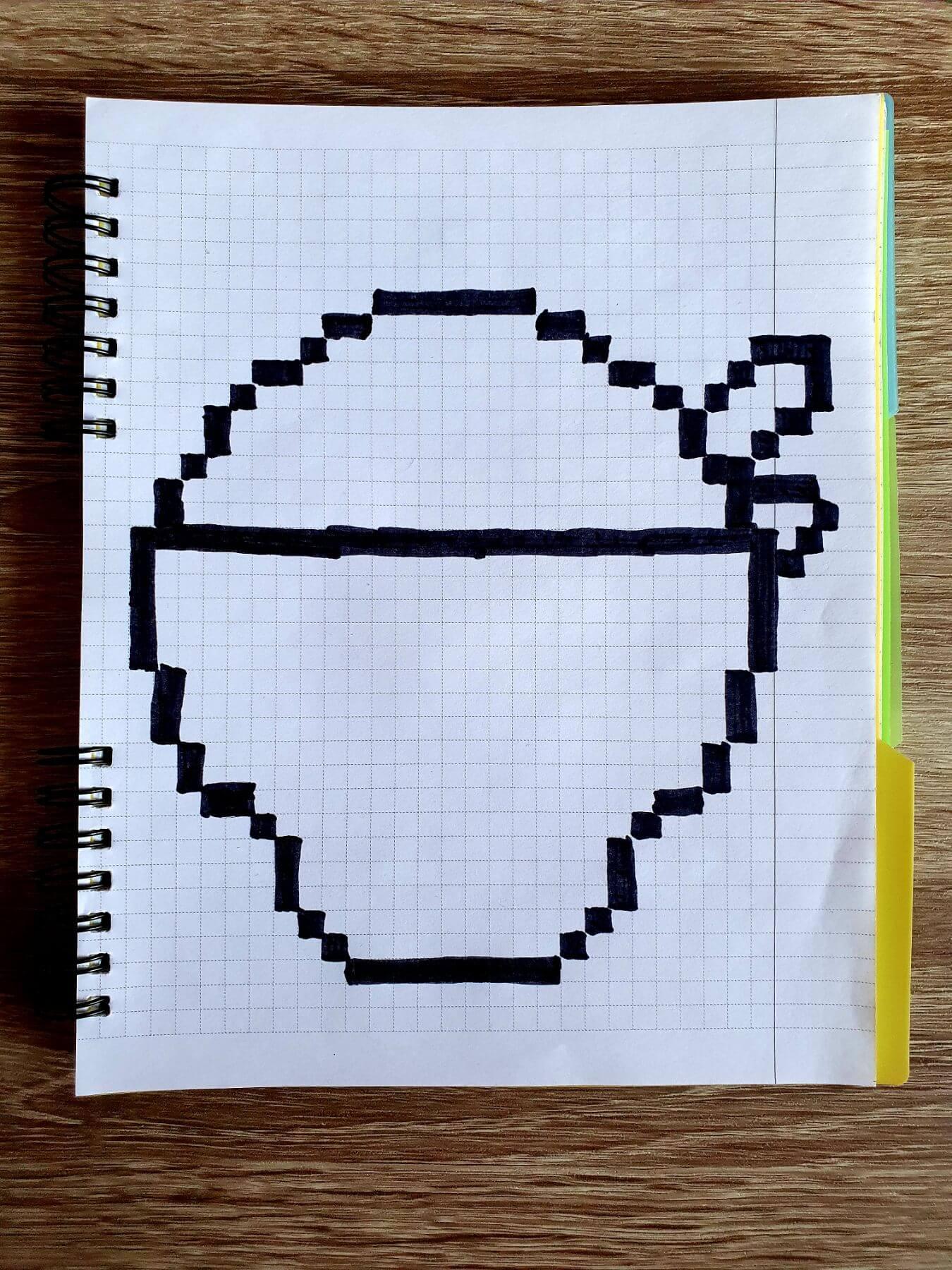 Поко з Brawl Stars. Малюнок по клітинкам. рисунки по клеточкам, pixel art, писксельные рисунки