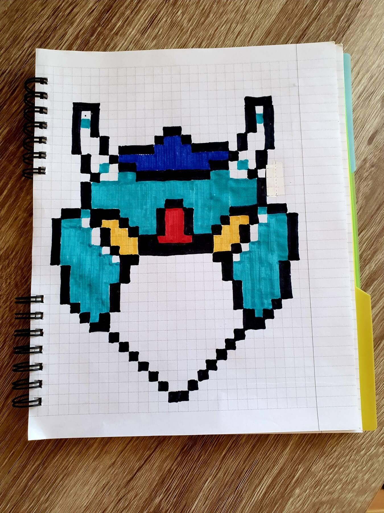 ворон меха, brawl stars, drawings on cells, drawings by cells, pixel art, pixel drawings